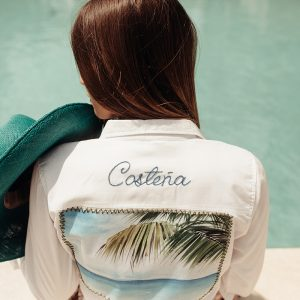 1-Hand Embroidery Costena-White Shirt. copy
