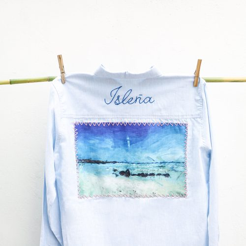 4-Hand Embroidery Islena- Blue Shirt o White Shirt copy