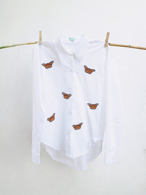 20-Mini patchwork Papillons- White Shirt copy
