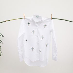 26-Mini embellished crosses- White shirt copy