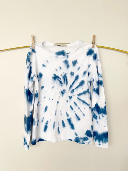 9-BLUE TIE DYE-SET JOGGER & SWEATSHIRT-WHITE-