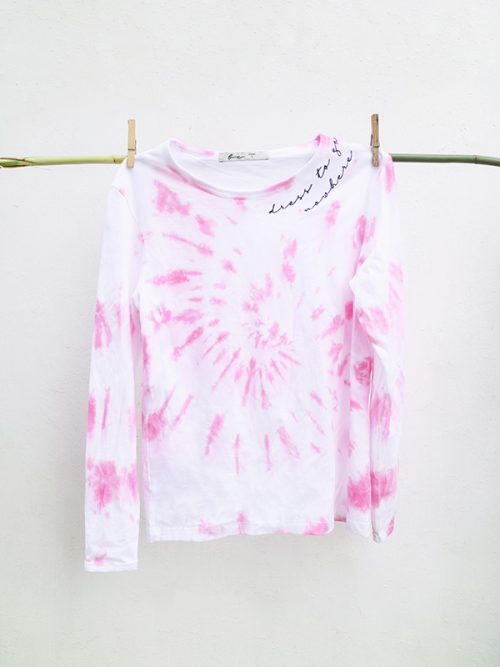 13-DRESS TO GO NOWHERE-PINK TIE DYE- SWEATSHIRT-