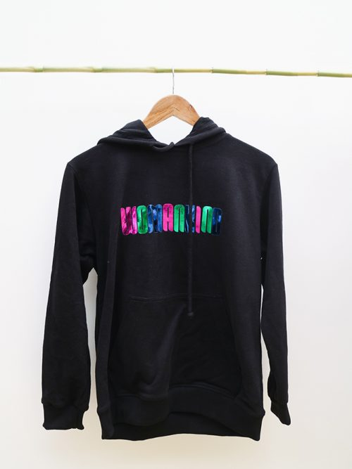 5)HOODIE-WOMANKIND-BLACK AND WHITE-SIZE (S:M) (L:XL) �65