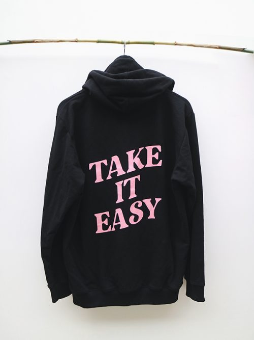 4)TAKE IT EASY HOODIE-EMBROIDERY -BLACK- GRAY- WHITE.-jpg