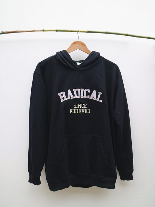 5)RADICAL HOODIE-BLACK- WHITE-GRAY